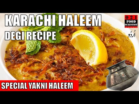 Degi Karachi Haleem Recipe With Scientific Explanation Youtube