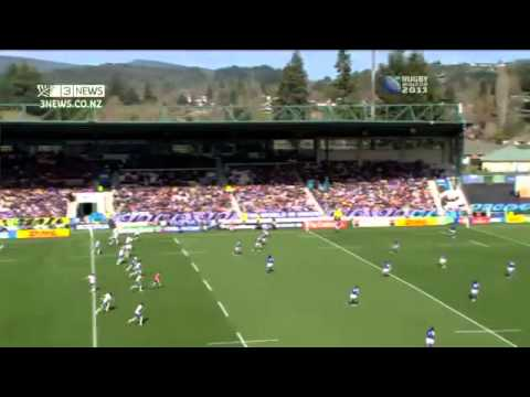 """CAMPBELL LIVE """"MANU SAMOA SUPPORTERS OUT IN FORCE"""" - RWC MEDIA VIDEO 2011"""