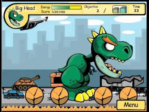เกมส์ต่อสู้ เกมส์ไดโนเสาร์ถล่มเมือง เล่นเกมส์