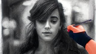 Drawing Catherine - Charcoal portrait Art Video Art Drawing Video - See description for my Art Tools