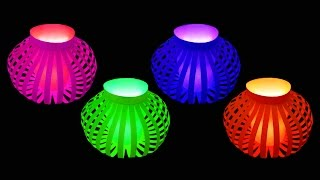 Repeat youtube video How to Make Fancy Paper Lantern Ball (Christmas Crafts) : HD