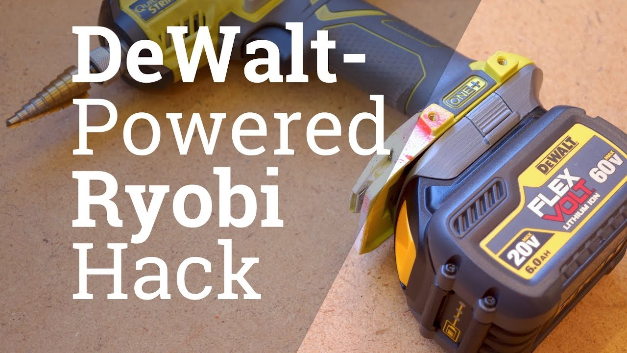 3D Printed DeWALT Battery Adapter for Ryobi Tools