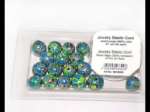 Собираем браслет на резинке (Jewelry elastic cord)