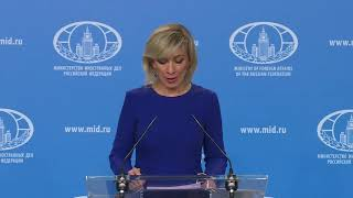 Брифинг М.В.Захаровой, Москва, 11 апреля 2019 года