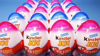 Kinder surprise eggs 24 킨더조이 알까기 서프라이즈에그 뽀로로 헬로카봇 장난감 Pororo Slime toy