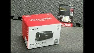 Canon Vixia HF R800 Unboxing