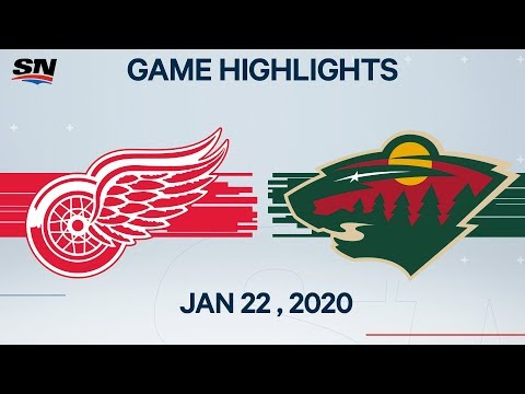 NHL Highlights | Red Wings Vs. Wild – Jan. 22, 2020