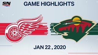 NHL Highlights | Red Wings vs. Wild – Jan. 22, 2020