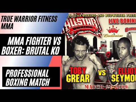 MMA Fighter Toby Grear VS Pro Boxer: Pro Boxing Match: @TobyTigerHeart