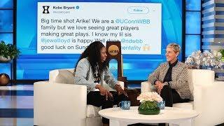 Ellen Welcomes College Basketball Star Arike Ogunbowale