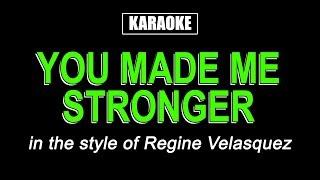 HQ Karaoke - You Made Me Stronger - Regine Velasquez