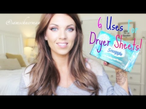 ❤ 6 Uses For Dryer Sheets ❤