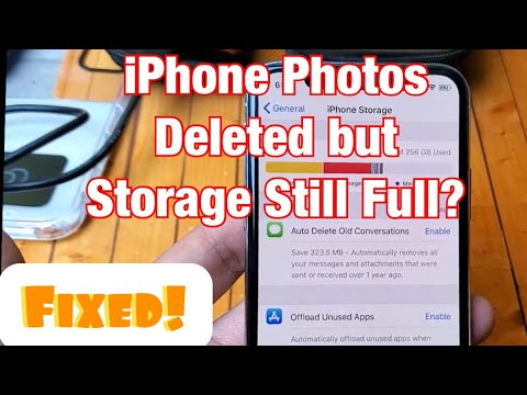 ALL IPhones FIXED: Photo Album & Recently Deleted Album Is Empty But Still Taking Up Storage Space
