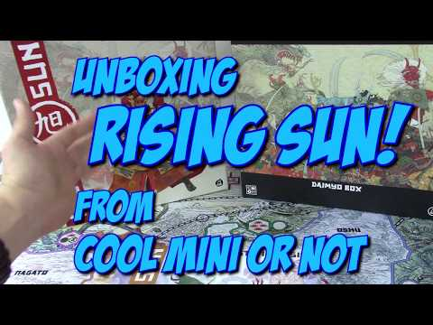 Boardgame Unboxing: Rising Sun! Full Daimyo Kickstarter Pledge from Cool Mini or Not