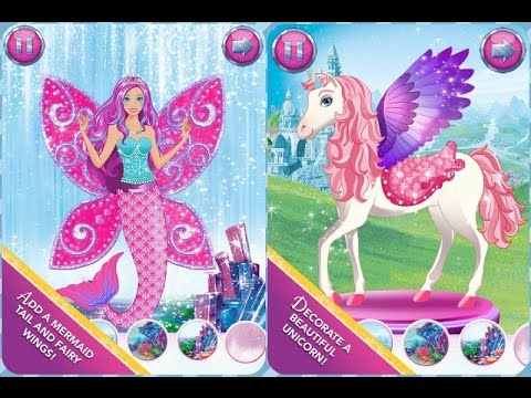 Barbie magical fashion dress up games