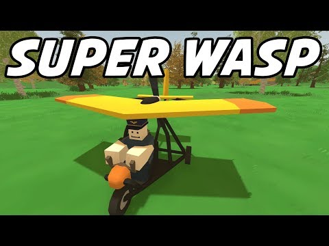 Unturned - WASP Ultralight Craft-able Plane (Featured Mod Roleplay)