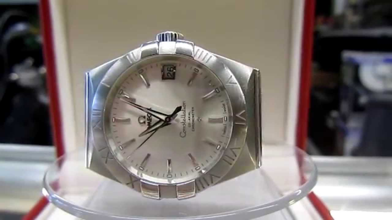 Excellent OMEGA CONSTELLATION CO-AXIAL Escapement AUTOMATIC 38MM SS MENS  WATCH - YouTube
