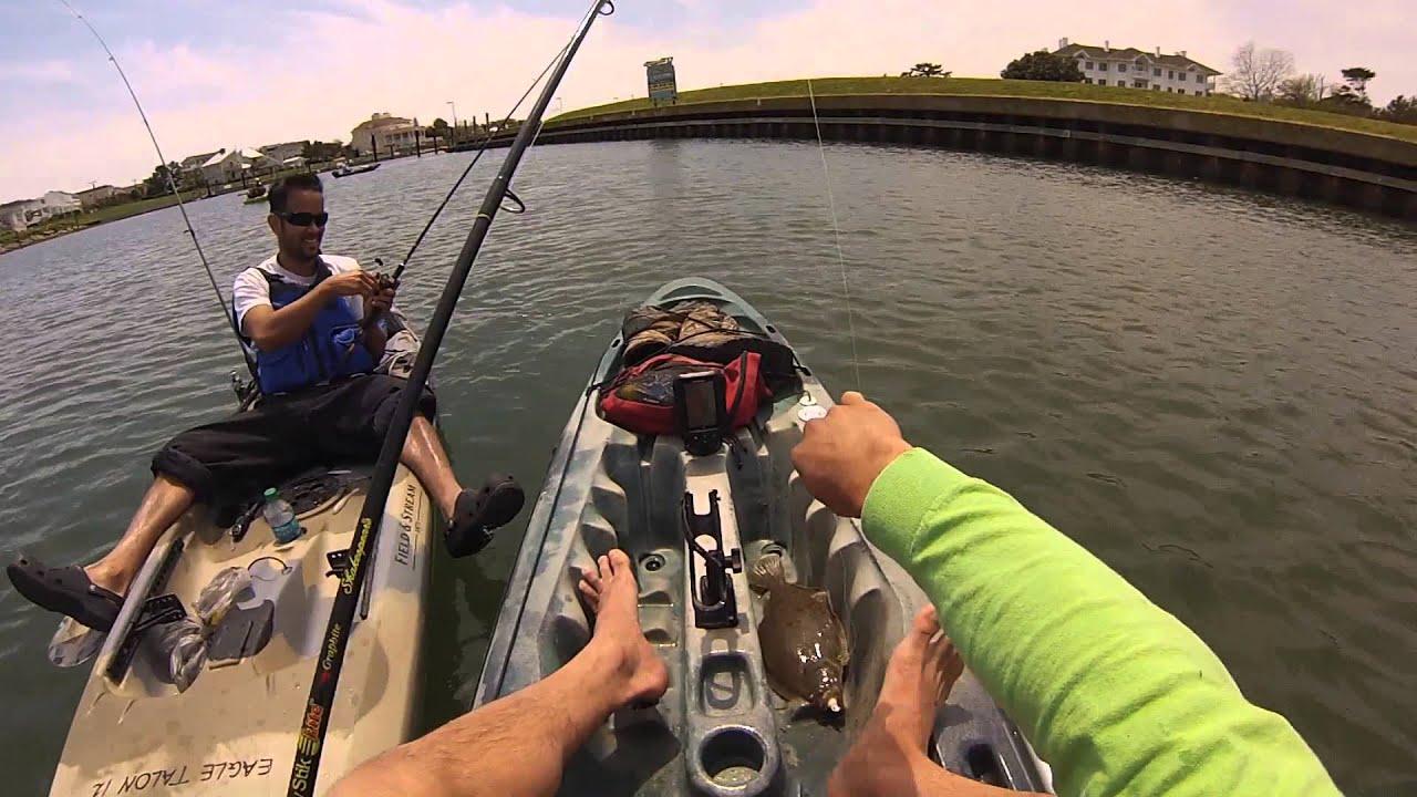 Virginia beach kayak flounder fishing big flounders for Va beach fishing