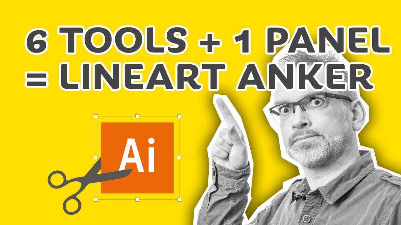 Illustrator kursus: Lær 6 værktøjer ved at tegne et anker