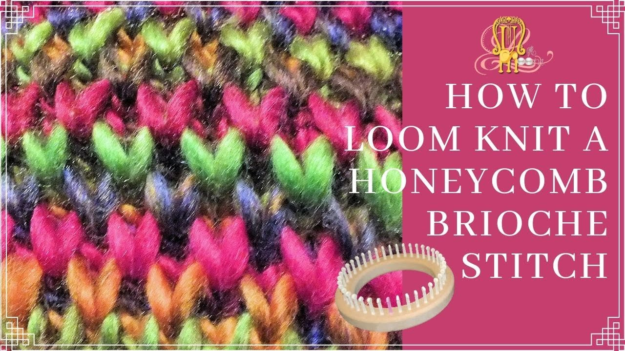 How to Loom Knit Honeycomb Brioche Stitch Circularly - YouTube
