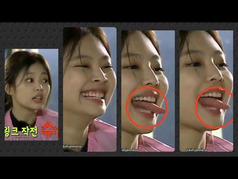 BlackPink Jennie   Jennie Spelling With Her Tongue   Jennie Cute Moments  Jennie Sexy Tongue 😂