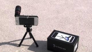Video Test accessoire Iphone 4 et 4S  Zoom Optique photo et vidéo 8X avec trépied download MP3, 3GP, MP4, WEBM, AVI, FLV Agustus 2018