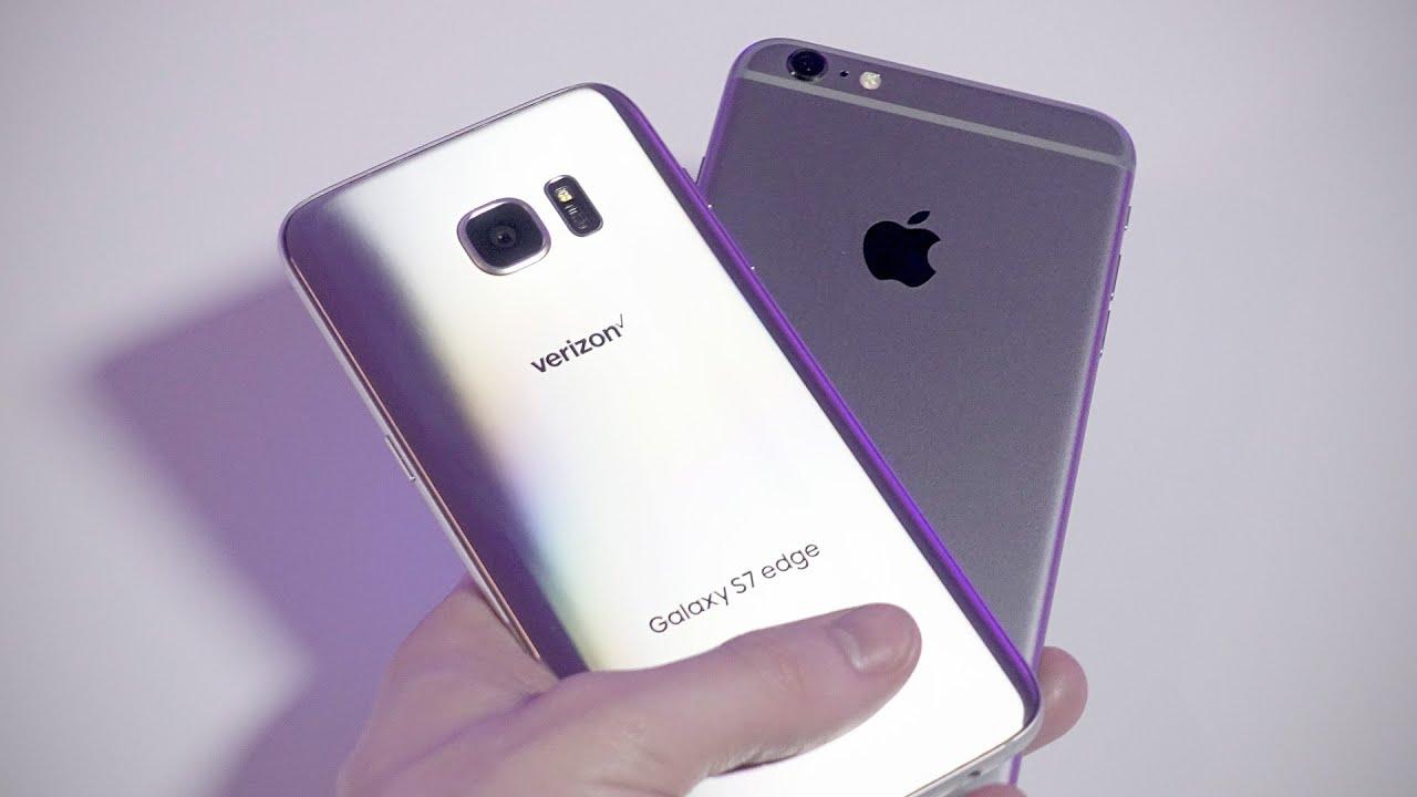 samsung galaxy s7 vs iphone 6s youtube