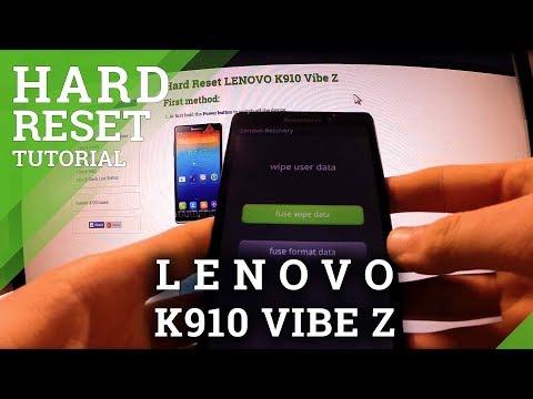 Hard Reset Lenovo K910 Vibe Z - remove screen lock