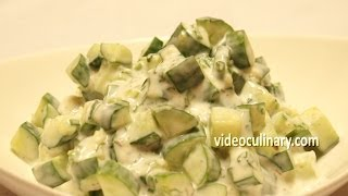 Easy Cucumber Salad with Yogurt Dressing Recipe