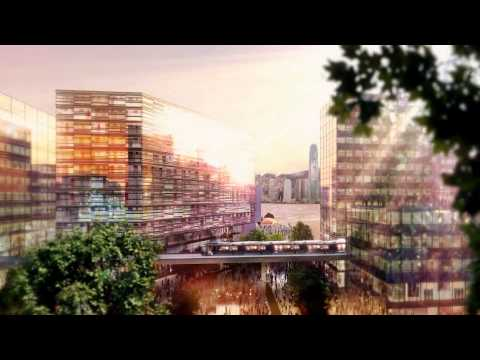 Foster + Partners - City Park (West Kowloon Cultural District).WMV