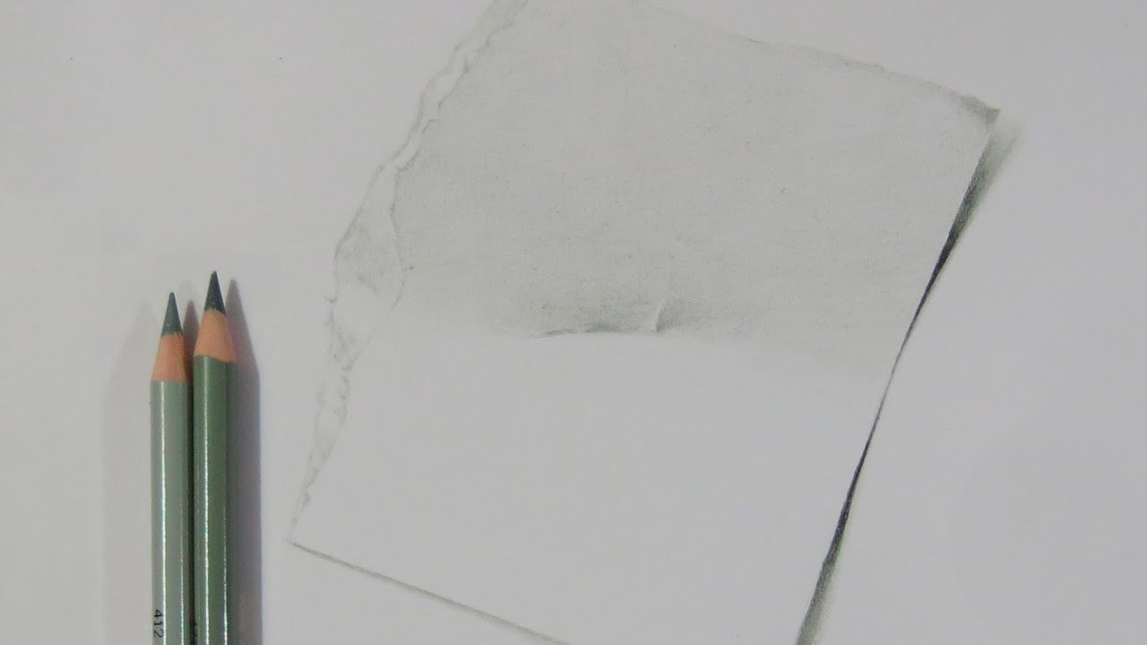 How to Draw a Piece of Torn Paper - YouTube