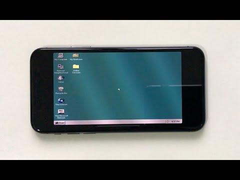 Así funciona Windows 95 en un iPhone X