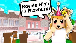 SHE BUILT ME MY OWN ROYALE HIGH CASTLE IN BLOXBURG 🏰👑 // Roblox Bloxburg