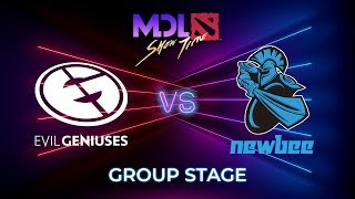 Evil Geniuses vs Newbee - MDL Macau 2019: Group Stage