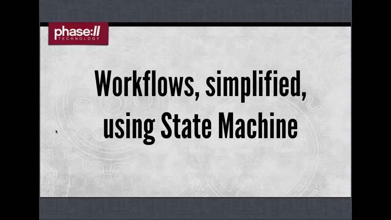 state machine workflow