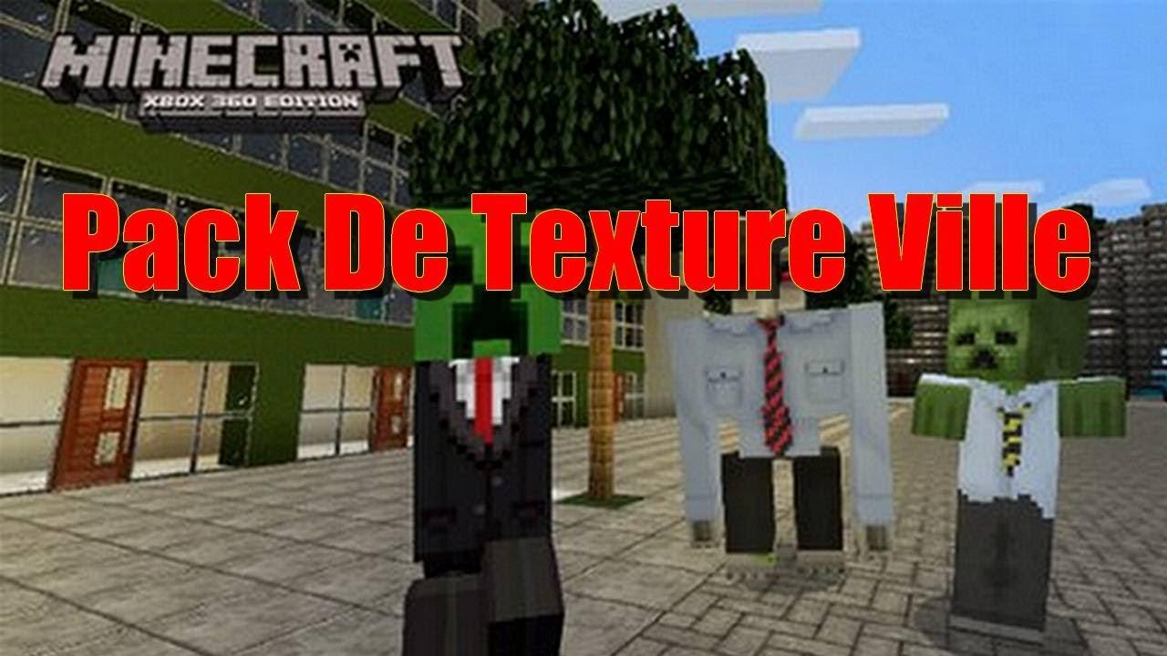 Minecraft xbox 360 pack de texture ville youtube - Video de minecraft ville ...
