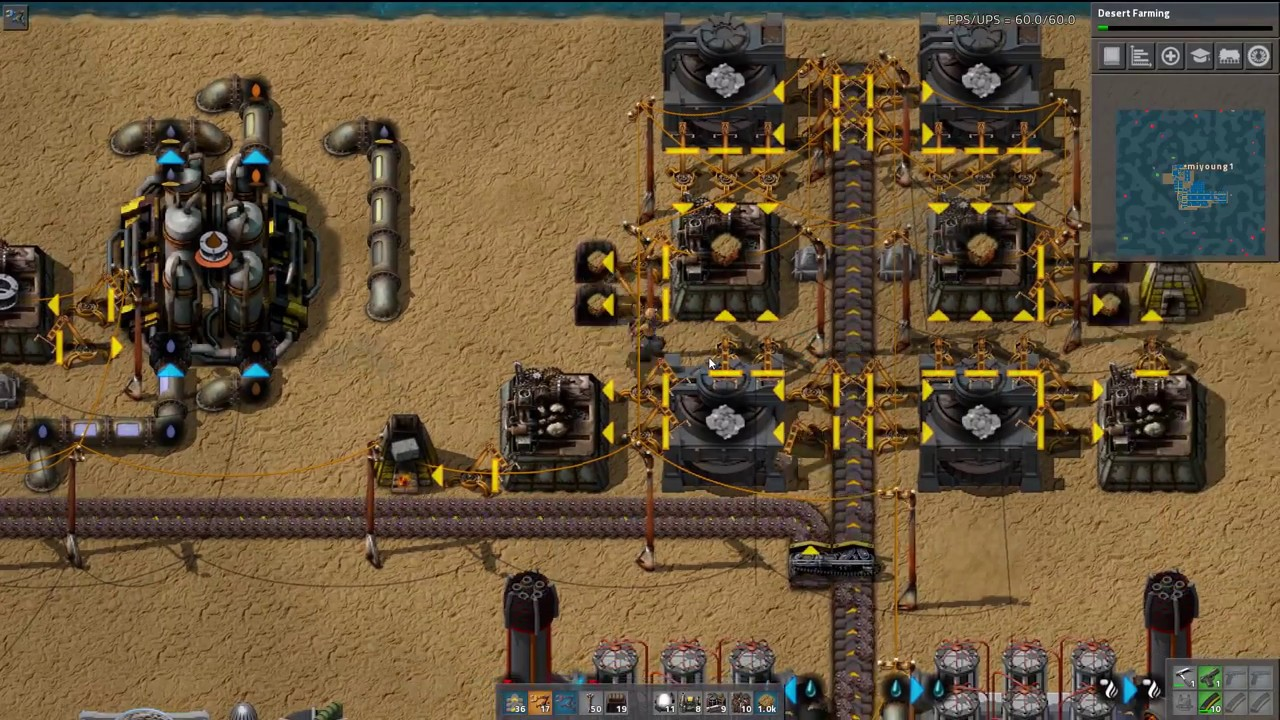 Let's Play Factorio Sea Block -  16 - Part 160 - Red Green Science Layout