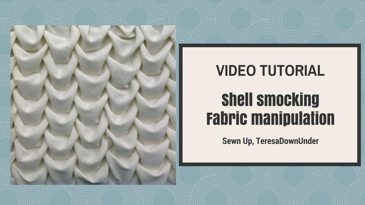 Shell smocking tutorial  Fabric manipulation  YouTube
