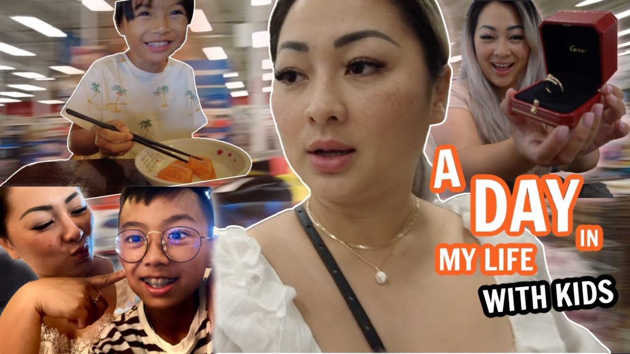 A DAY IN MY LIFE #.2 With KIDS *Breakfast, Lunch & SHOPPING AND UNBOXING CARTIER JUSTE CLOU Ring