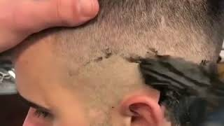 Amazing strange way to have a nice haircut