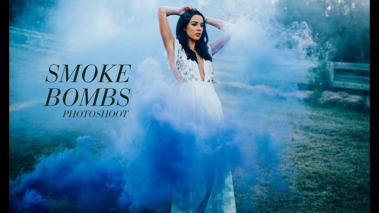 smoke bombs photoshoot youtube