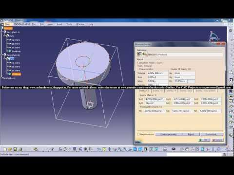 Catia V5 Powerful Tricks Collection #115|How to Find Centre of Gravity & Mass of Solid/Surface