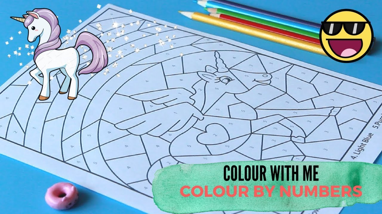 COLOUR WITH ME UNICORN | COLOUR BY NUMBERS | MeeMee and YaYa - YouTube
