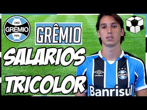 Os Salários dos Jogadores do Grêmio 2016.