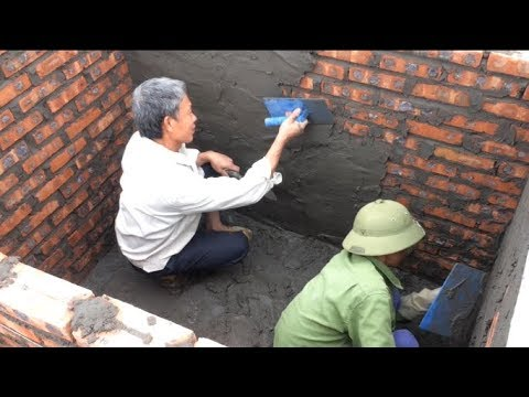 How To Build A Water Tank Rendering Sand And Cement On Brick