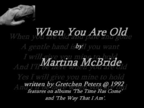 Martina McBride - When You Are Old ( + lyrics 1992)
