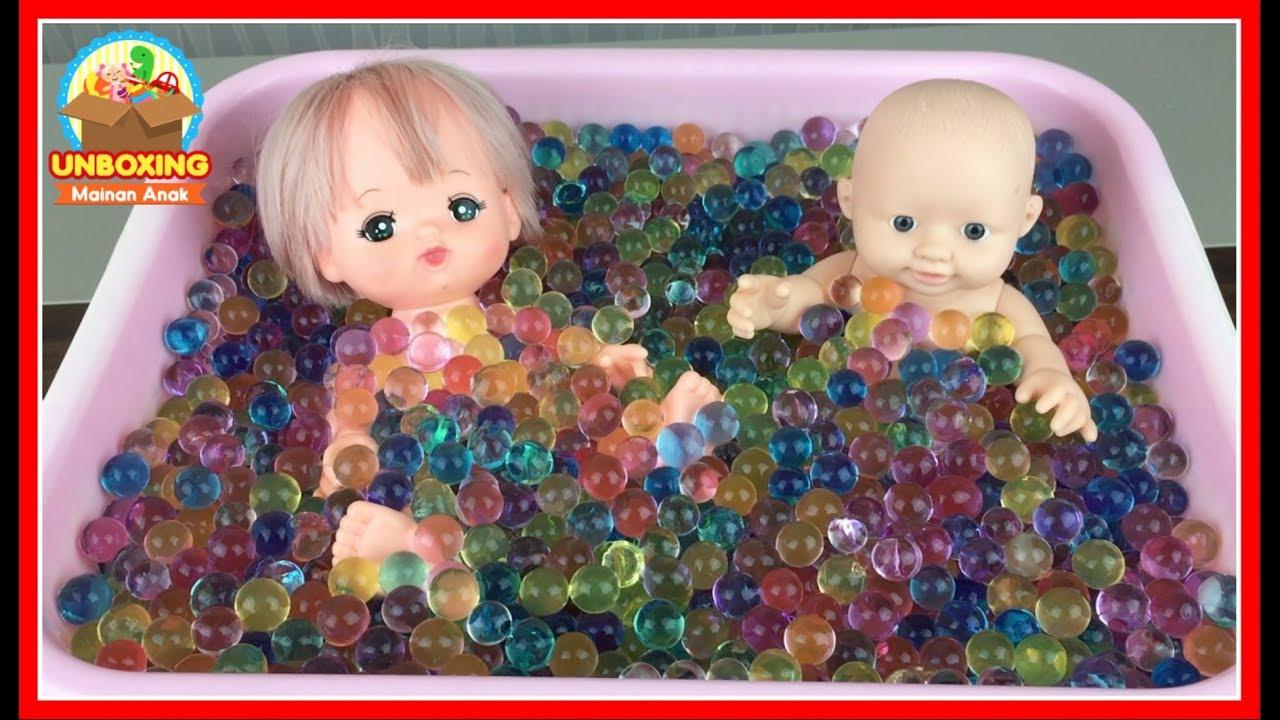Mainan Anak Boneka Bayi Mandi Bola Orbeez - Baby Doll Bath Time Orbeez -  Cute Baby Toy - Bayi Lucu 0431f36c2f