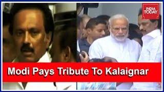 PM Modi Consoles #Karunanidhi's Grieving Family   #Karunanidhi LIVE UPDATES