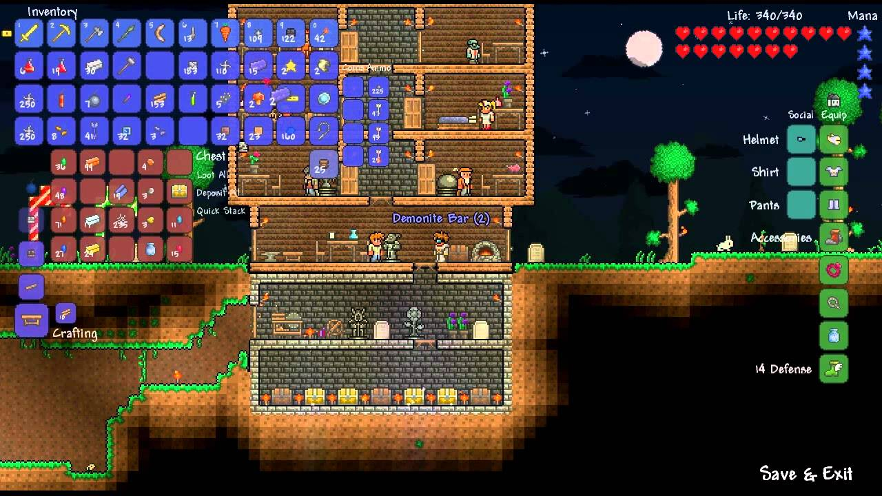 how to choose evil on terraria