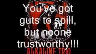 Alkaline Trio Time to Waste (with lyrics)